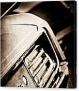 1970 Pontiac Barracuda Cuda Taillight Emblem Canvas Print