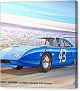 1970 Superbird Petty Nascar Racecar Muscle Car Sketch Rendering Canvas Print