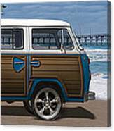 1970 Vw Bus Woody Canvas Print