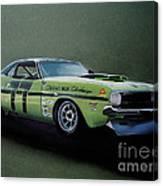 1970's Challenger Race Car Canvas Print