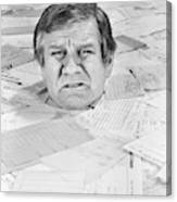 1970s Distressed Man Up To His Neck Canvas Print
