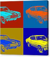 1971 Chevrolet Chevelle Ss Pop Art Canvas Print