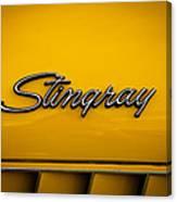1971 Chevrolet Corvette Stingray Emblem Canvas Print