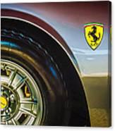 1971 Ferrari Dino Gt Wheel Emblem -027c Canvas Print