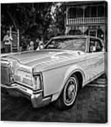 1971 Lincoln Continental Mark IIi Painted Bw   Canvas Print