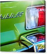1971 Maserati Ghibli 4.9 Ss Spyder Taillight Emblem -0187c Canvas Print