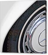 1971 Mercedes-benz Wheel Emblem Canvas Print
