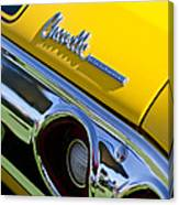 1972 Chevrolet Chevelle Taillight Emblem Canvas Print