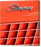 1972 Chevrolet Corvette Stingray Emblem 3 Canvas Print