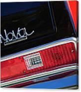 1972 Chevrolet Nova Ss Taillight Emblem -0355c Canvas Print