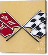1972 Corvette Crossed Flags Canvas Print