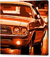 1972 Dodge Challenger In Orange Canvas Print