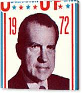 1972 Nixon Presidential Campaign Canvas Print