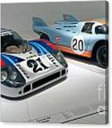 1972 Porsche 917 Lh Coupe And 1970 Porsche 917 Kh Coupe Canvas Print