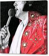 1972 Red Pinwheel Suit Canvas Print