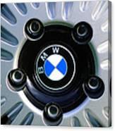 1973 Bwm 3.0 Csl Wheel Emblem Canvas Print