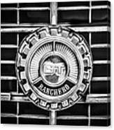1973 Ford Ranchero Grille Emblem -0769bw Canvas Print