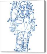 1973 Nasa Astronaut Space Suit Patent Art 2 Canvas Print