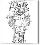 1973 Nasa Astronaut Space Suit Patent Art 3 Canvas Print