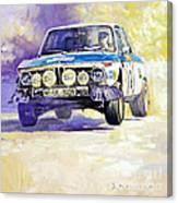 1973 Rallye Of Portugal Bmw 2002 Warmbold Davenport Canvas Print