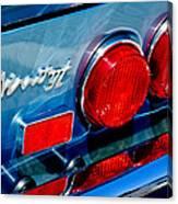 1974 Ferrari Dino Targa Gts Taillight Emblem Canvas Print