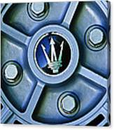 1974 Maserati Merak Wheel Emblem Canvas Print