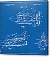 1975 Space Shuttle Patent - Blueprint Canvas Print