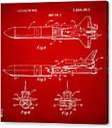 1975 Space Vehicle Patent - Red Canvas Print