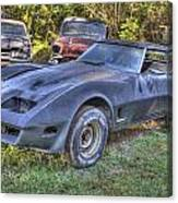 1977 Corvette Black Canvas Print