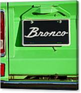 1977 Ford Bronco Taillight Canvas Print