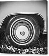 1978 Cadillac Eldorado Bw Canvas Print