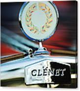 1979 Clenet Hood Ornament -176c Canvas Print