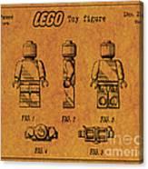 1979 Lego Minifigure Toy Patent Art 4 Canvas Print