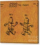 1979 Lego Minifigure Toy Patent Art 5 Canvas Print