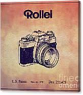 1979 Rollei Camera Patent Art 1 Canvas Print