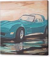 1980 Chevrolet Corvette/reflections Canvas Print