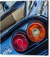1980 Ferrari 308 Gtsi Taillight Emblem -0036c Canvas Print