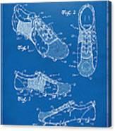 1980 Soccer Shoes Patent Artwork - Blueprint Canvas Print