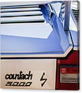 1982 Lamborghini Countach 5000s Taillight Emblem -0453c Canvas Print