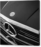 1984 Mercedes 500 Sl Convertible Bw Canvas Print