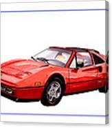 Ferrari 328 G T S 1986 Canvas Print