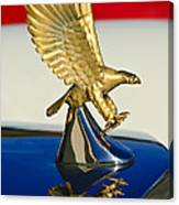 1986 Zimmer Golden Spirit Hood Ornament Canvas Print