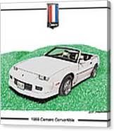 1989 Camaro Convertible Canvas Print