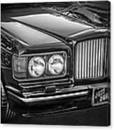 1990 Bentley Turbo R Bw Canvas Print