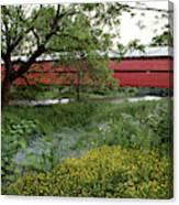 1990s Dreibelbis Station Covered Bridge Canvas Print