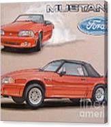 1991 Ford Mustang Canvas Print