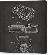 1993 Nintendo Game Boy Patent Artwork - Gray Canvas Print