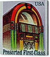 1995 Jukebox Stamp Canvas Print