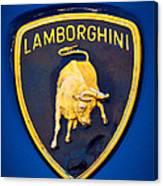 1995 Lamborghini Diablo Emblem Canvas Print