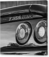 1997 Ferrari F 355 Spider Taillight Emblem -221bw Canvas Print